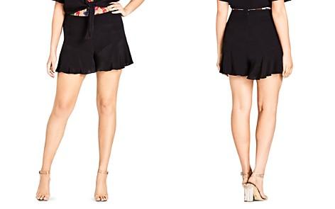City Chic Plus Weekender Ruffle-Hem Shorts - Bloomingdale's_2