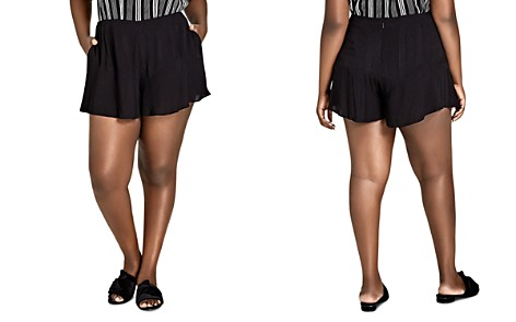 City Chic Plus Ruffle-Trim Shorts - Bloomingdale's_2