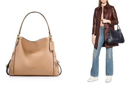 COACH Edie 31 Leather, Suede & Snakeskin Patchwork Tea Rose Shoulder Bag - Bloomingdale's_2