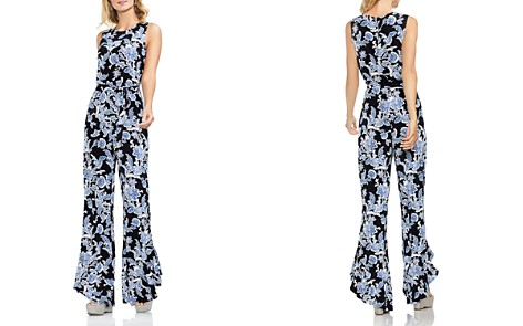 VINCE CAMUTO Woodblock Floral Flared Jumpsuit - Bloomingdale's_2