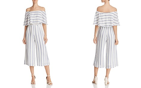 Olivaceous Off-the-Shoulder Striped Cropped Jumpsuit - Bloomingdale's_2