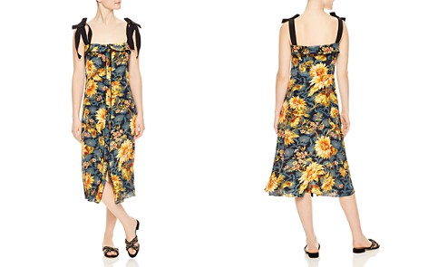 Sandro Matti Floral-Print Silk Midi Dress - Bloomingdale's_2