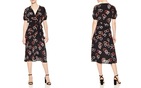 Sandro Eclat Ruffled Floral-Print Silk Midi Dress - Bloomingdale's_2
