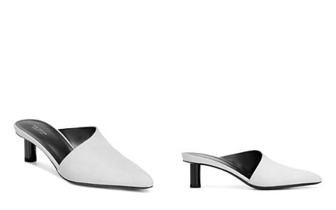 Via Spiga Women's Freya Point-Toe Cylinder-Heel Porcelain Leather Slide Mules - 100% Exclusive - Bloomingdale's_2