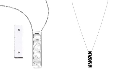 "Les Georgettes Perroquet Rectangle Pendant Necklace in Black/White, 16"" - Bloomingdale's_2"
