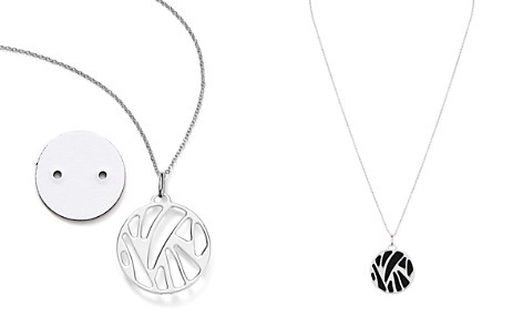 "Les Georgettes Perroquet Round Pendant Necklace in Black/White, 16"" - Bloomingdale's_2"