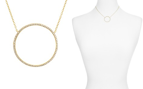 "AQUA Large Circle Necklace, 13"" - 100% Exclusive - Bloomingdale's_2"