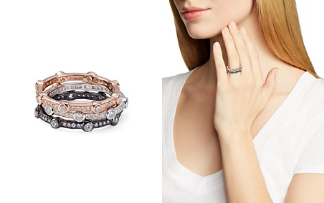 AQUA Stackable Contrast Color Pavé Rings - 100% Exclusive - Bloomingdale's_2