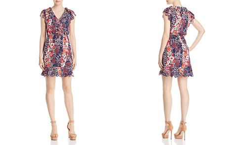 MICHAEL Michael Kors Mixed Floral-Print Scalloped Dress - Bloomingdale's_2
