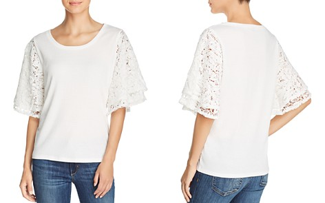 Love Scarlett Tiered Lace-Sleeve Top - Bloomingdale's_2