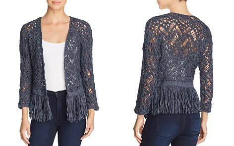 NIC+ZOE Fiji Waves Lace-Knit Fringed Jacket - Bloomingdale's_2