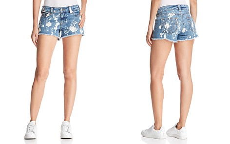 True Religion Keira Mid Rise Denim Shorts in Lucid Blues - Bloomingdale's_2