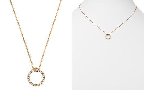 "Roberto Coin 18K Yellow Gold Princess Tiny Treasures Extra Small Diamond Circle Pendant Necklace, 16"" - Bloomingdale's_2"