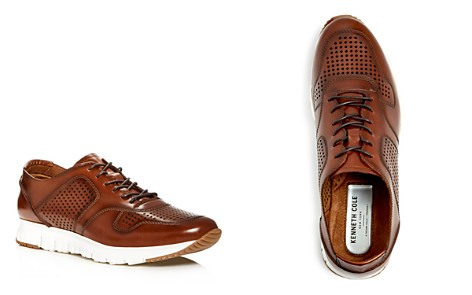Kenneth Cole Men's Bailey Perforated Burnished Leather Lace Up Sneakers - Bloomingdale's_2