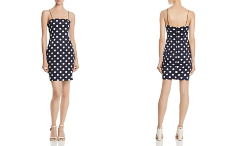 AQUA Polka Dot Body-Con Dress - 100% Exclusive - Bloomingdale's_2