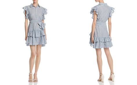 AQUA Ruffled Striped Shirt Dress - 100% Exclusive - Bloomingdale's_2