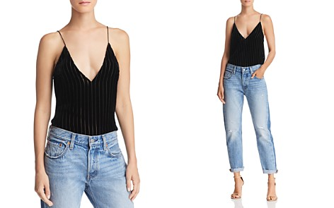 CAMI NYC Textured Striped Velvet Top - Bloomingdale's_2