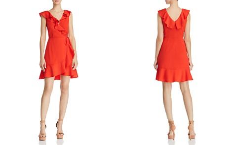 JOA Ruffled V-Back Faux-Wrap Dress - Bloomingdale's_2
