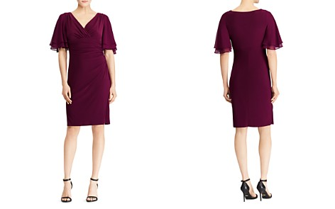 Lauren Ralph Lauren Flutter-Sleeve Jersey Dress - Bloomingdale's_2