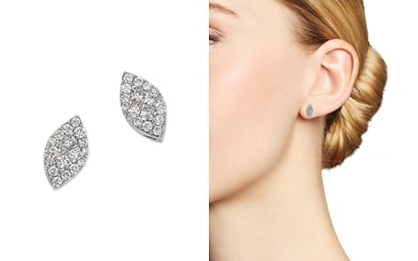 Bloomingdale's Princess-Cut Diamond & Pavé Marquis Stud Earrings in 14K White Gold, 0.35 ct. t.w. - 100% Exclusive _2