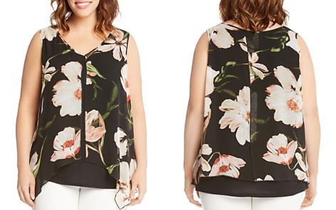 Karen Kane Plus Floral Overlay Top - Bloomingdale's_2