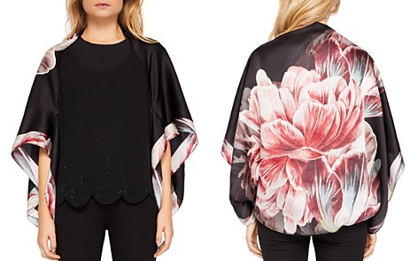 Ted Baker Phoeebe Tranquility Floral Silk Cape Scarf - Bloomingdale's_2