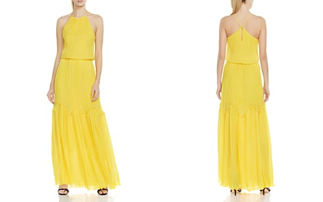 HALSTON HERITAGE Pleated Ruffled Gown - Bloomingdale's_2