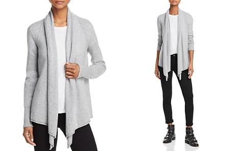 AQUA Cashmere Drape Front Cashmere Cardigan - 100% Exclusive - Bloomingdale's_2