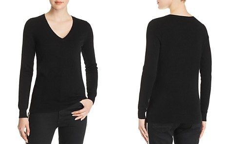 C by Bloomingdale's V-Neck Cashmere Sweater - 100% Exclusive _2