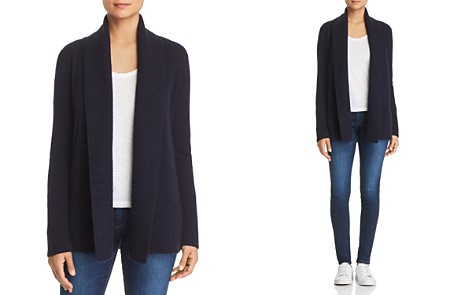 C by Bloomingdale's Shawl-Collar Cashmere Cardigan - 100% Exclusive _2