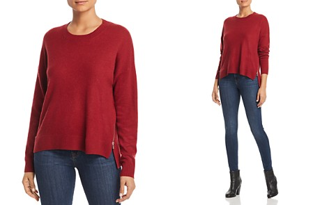 C by Bloomingdale's Side-Zip Cashmere Sweater - 100% Exclusive _2