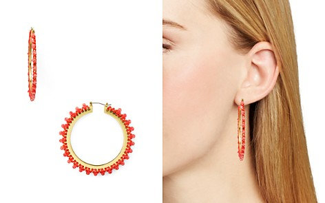 kate spade new york Braided Thread Hoop Earrings - Bloomingdale's_2