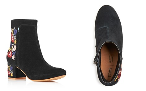 TOMS Women's Evie Embroidered Suede Booties - 100% Exclusive - Bloomingdale's_2