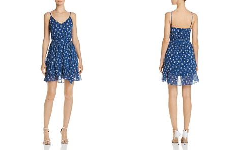 AQUA Ruffle-Hem Floral Print Dress - 100% Exclusive - Bloomingdale's_2
