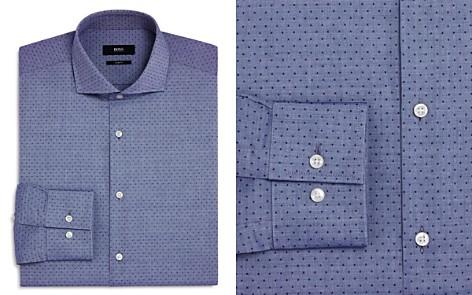 BOSS Dobby Dot Slim Fit Dress Shirt - Bloomingdale's_2