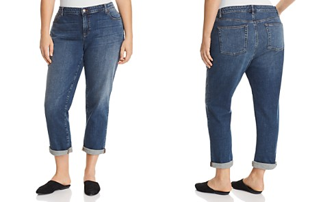 Eileen Fisher Plus Boyfriend Jeans in Sky Blue - Bloomingdale's_2