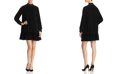 Emporio Armani Burnout Velvet Polka Dot Dress - Bloomingdale's_2