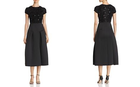 Emporio Armani Sequined & Appliquéd Bodice Midi Dress - Bloomingdale's_2