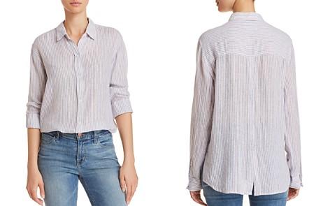 Rails Sydney Button-Back Metallic Striped Shirt - Bloomingdale's_2