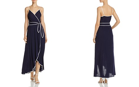AQUA Piped Faux-Wrap Maxi Dress - 100% Exclusive - Bloomingdale's_2