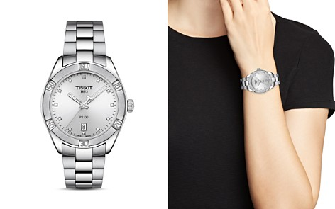 Tissot PR100 Diamond Watch, 36mm - Bloomingdale's_2