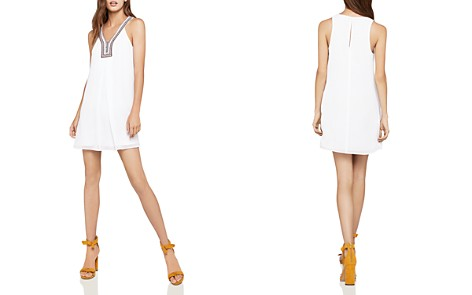 BCBGeneration Sleeveless Embroidered-Trim A-Line Dress - Bloomingdale's_2