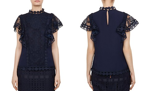 Ted Baker Gabbby Mixed-Lace Top - Bloomingdale's_2