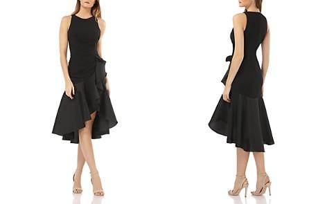 Carmen Marc Valvo Ruffled Crepe Cocktail Dress - Bloomingdale's_2