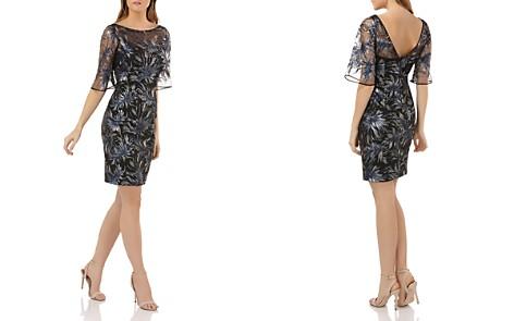 Carmen Marc Valvo Sequined Cocktail Dress - Bloomingdale's_2