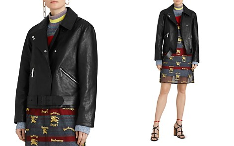Burberry Burnham Leather Moto Jacket - Bloomingdale's_2