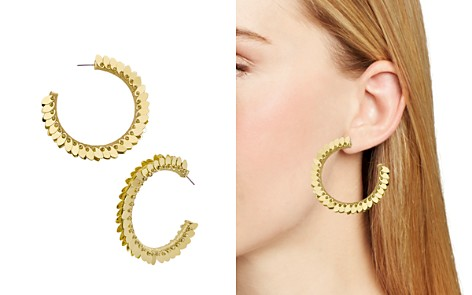 BAUBLEBAR Fiona Feather-Effect Hoop Earrings - Bloomingdale's_2