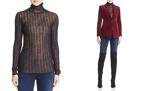 Theory Sheer Turtleneck Top - Bloomingdale's_2