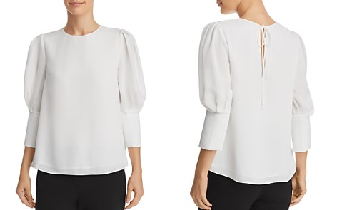 AQUA Bishop Sleeve Top - 100% Exclusive - Bloomingdale's_2