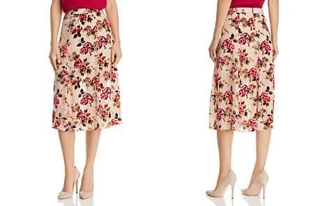 Alice + Olivia Athena Velvet Floral Burnout Midi Skirt - Bloomingdale's_2